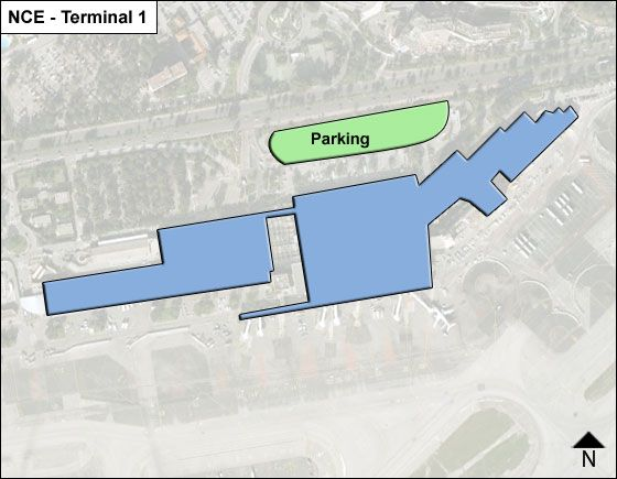 Nice Cote d Azur NCE Terminal Map