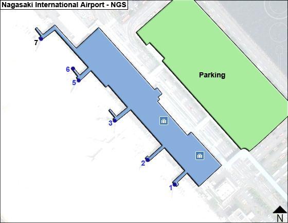 Nagasaki NGS Terminal Map