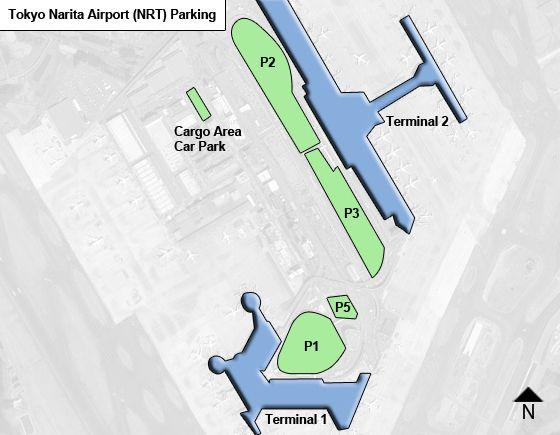 Tokyo Narita NRT airport parking map