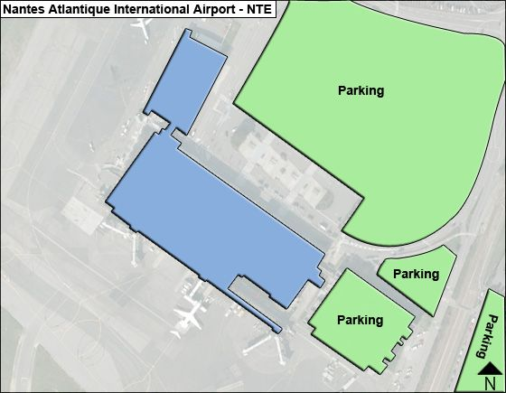 Nantes Atlantique NTE Terminal Map
