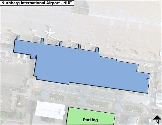 Nurnberg NUE Terminal Map