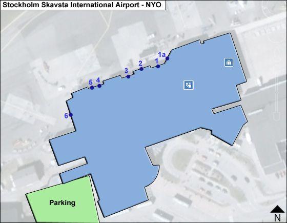 Stockholm Skavsta NYO Terminal Map