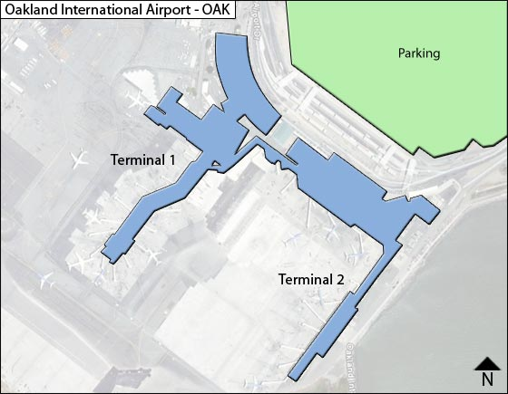 map of oakland airport Metropolitan Oakland Oak Airport Terminal Map map of oakland airport