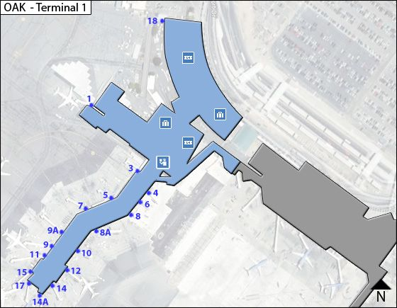 Oakland Airport Terminal 1 Map