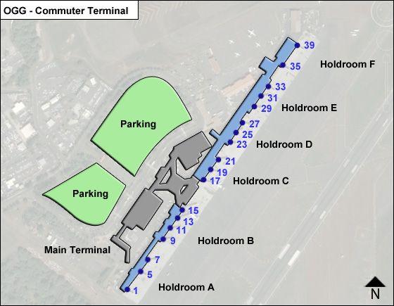 Maui Kahului OGG Terminal Map