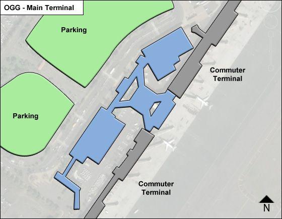 Kahului Airport Main Terminal Map