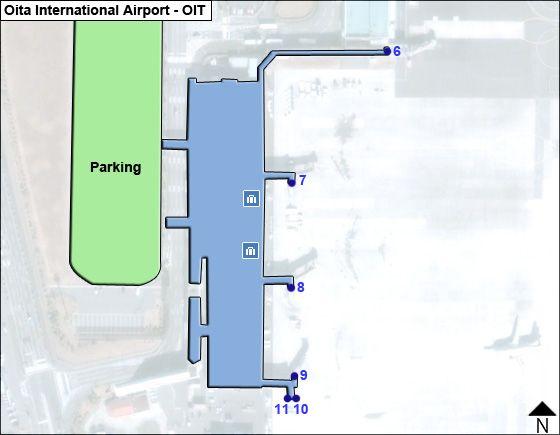 Kunisaki, Oita Airport Overview Map