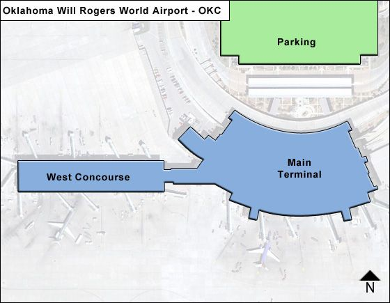 will rogers world airport map Oklahoma Will Rogers World Okc Airport Terminal Map will rogers world airport map