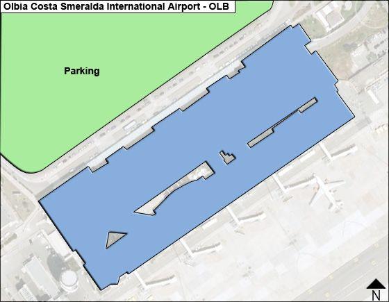 Olbia Costa Smeralda OLB Terminal Map