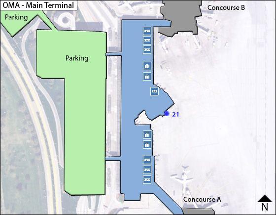 Omaha Airport Main Terminal Map