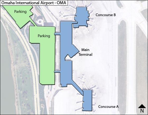 Omaha Airport Overview Map