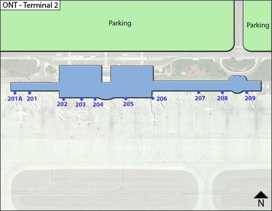 LA Ontario ONT Terminal Map