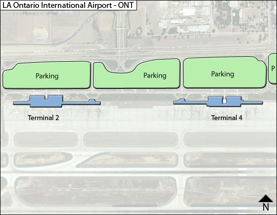 Ontario Airport Overview Map
