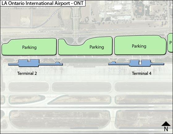 ontario airport california map La Ontario Ont Airport Terminal Map ontario airport california map