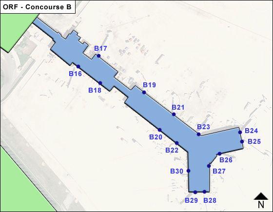 Norfolk ORF Terminal Map