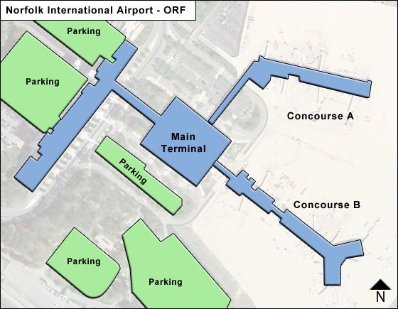 Norfolk ORF Terminal Map