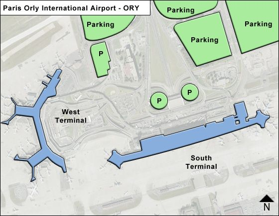 Paris orly ory airport terminal map for Porte w orly