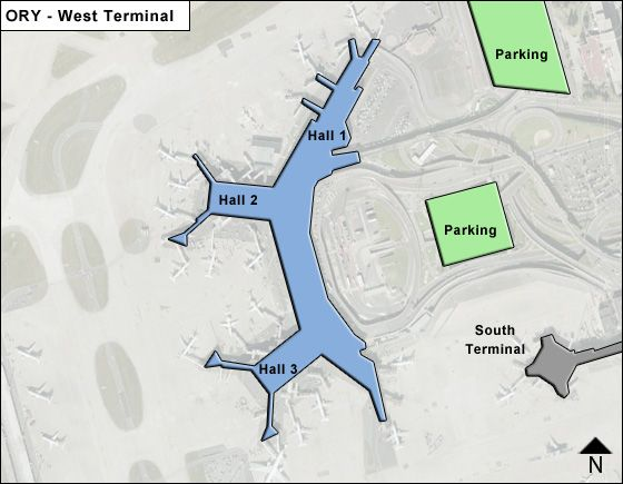 paris orly ory terminal map