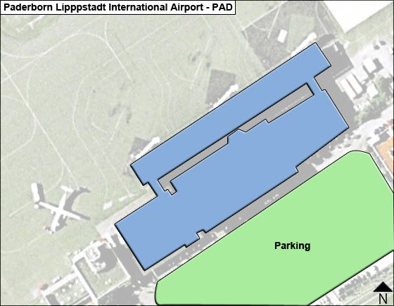 Paderborn Lipppstadt PAD Terminal Map