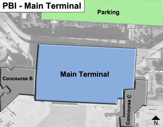 West Palm Beach Airport Main Terminal Map