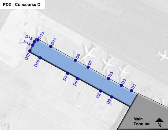 Portland Airport Concourse D Map