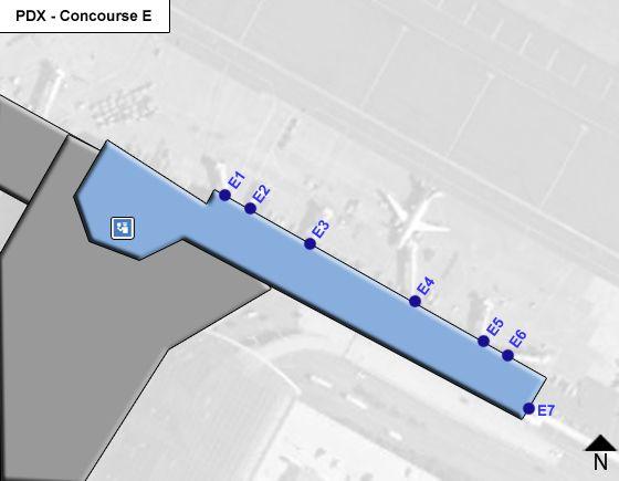 Portland Airport Concourse E Map