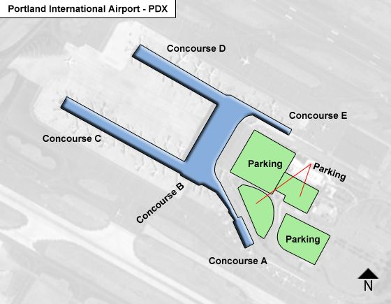 Portland Oregon Airport Map Portland PDX Airport Terminal Map