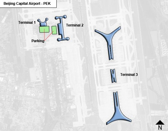 Beijing, Chaoyang District Airport Overview Map