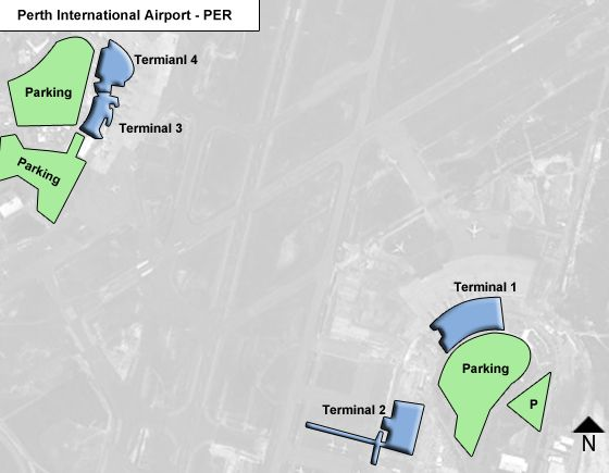 Perth, WA Airport Overview Map