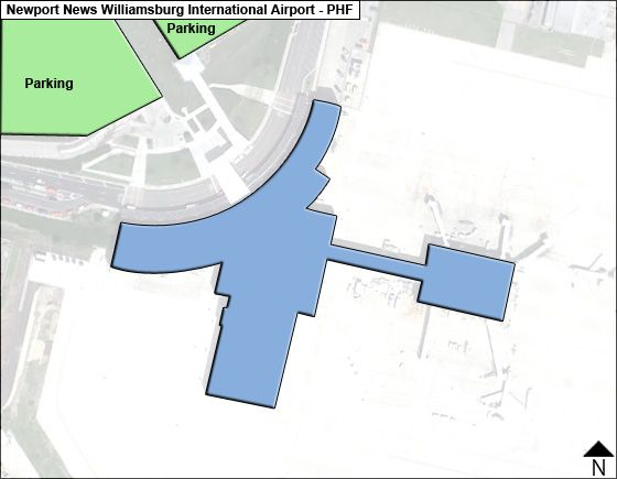 Newport News Williamsburg PHF Terminal Map