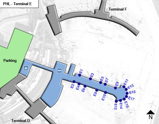 Philadelphia PHL Terminal Map
