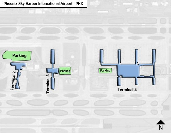 Phoenix Sky Harbor PHX Airport Terminal Map