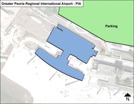 Peoria General Downing PIA Terminal Map