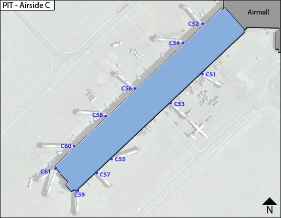 Pittsburgh PIT Terminal Map