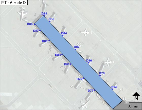 Pittsburgh Airport Airside D Map