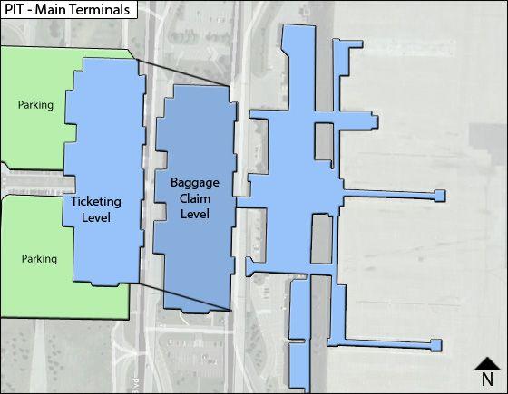 Pittsburgh Airport Main Terminal Map