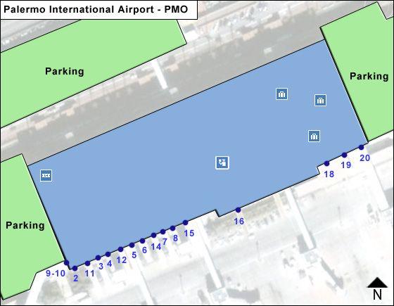 Palermo Borsellino PMO Terminal Map