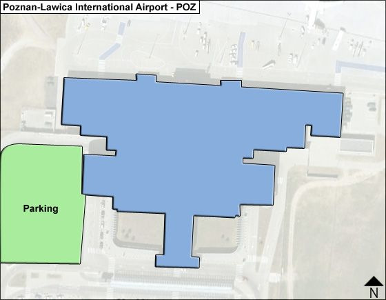 Poznan Airport Overview Map
