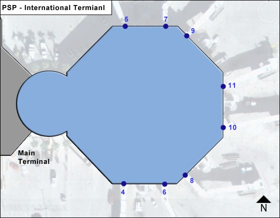 Palm Springs PSP Terminal Map
