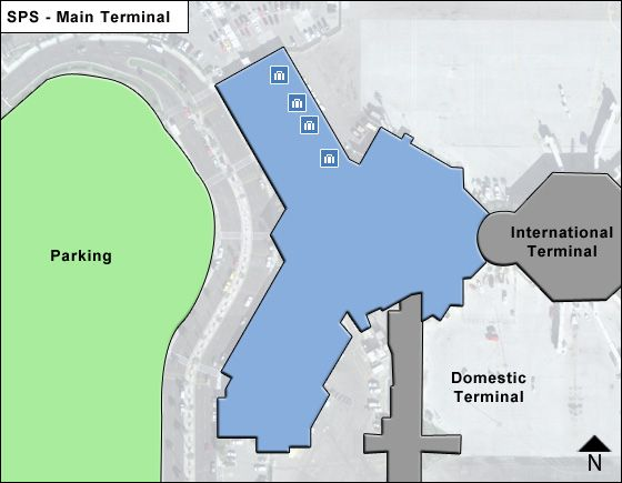 Palm Springs Airport Main Terminal Map