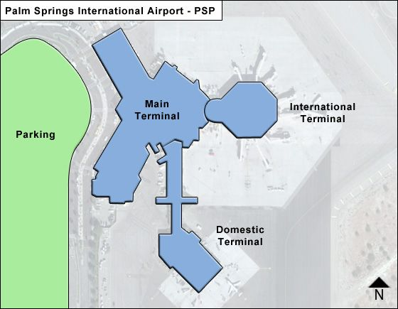 Palm Springs PSP Terminal Map