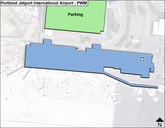 Portland Jetport PWM Terminal Map