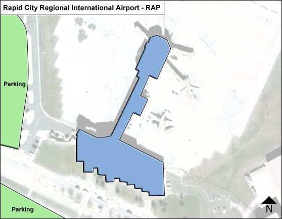 Rapid City Regional RAP Terminal Map