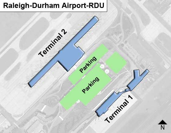 Raleigh-Durham RDU Terminal Map