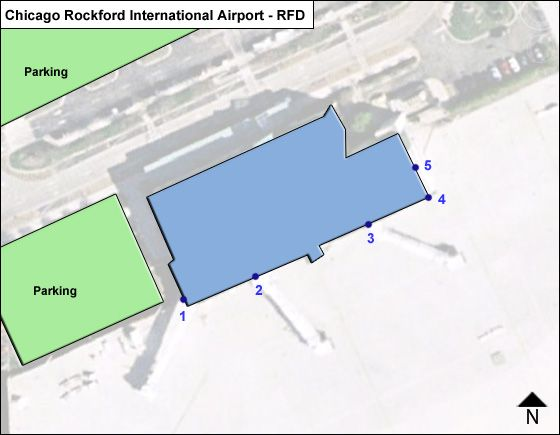 Chicago Rockford RFD Terminal Map