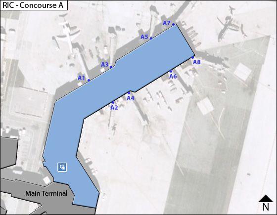 Richmond Airport Concourse A Map
