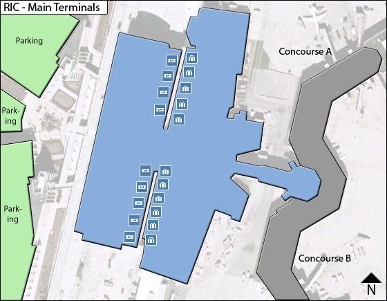 Richmond Airport Main Terminal Map