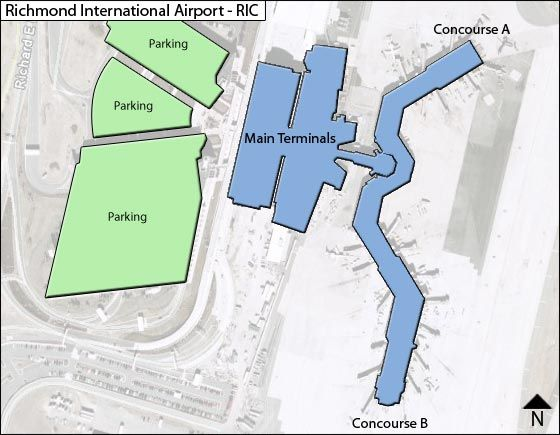 Richmond Va Airport Map Richmond RIC Airport Terminal Map Richmond Va Airport Map