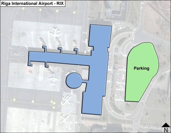 Riga International RIX Terminal Map