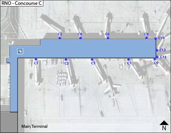 Reno Airport Concourse C Map